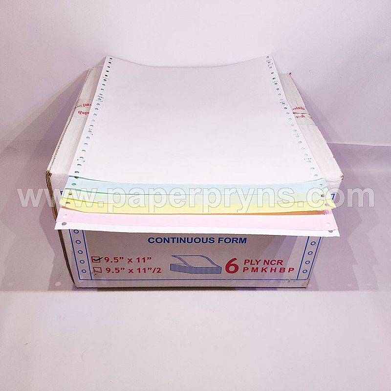PAPERPRYNS CONTINUOUS FORM 9.5 X 11 6PLY NCR (UTUH)