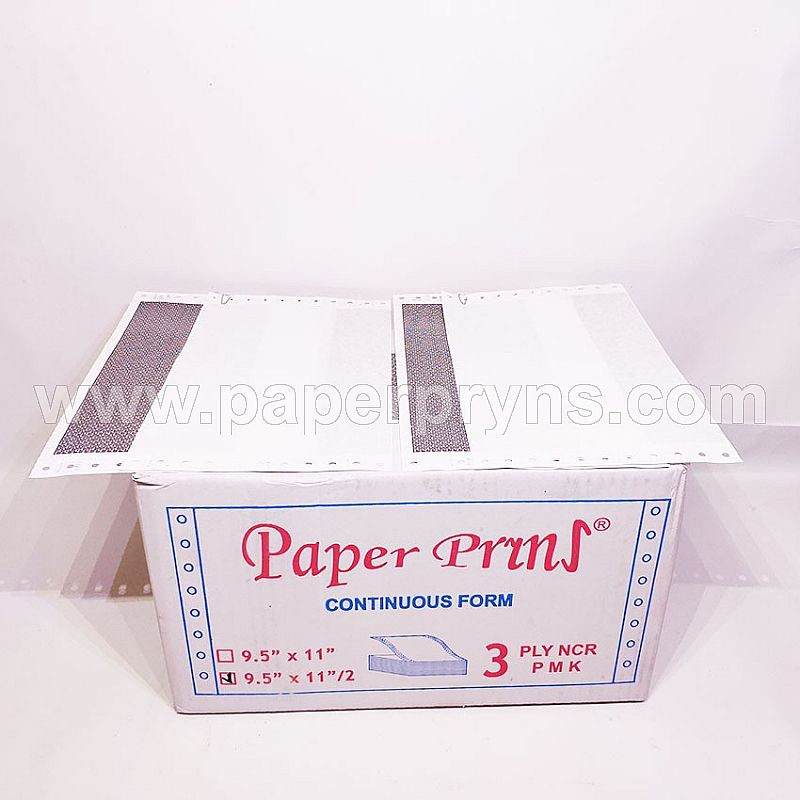 PAPERPRYNS CONTINUOUS FORM 9.5 X 11/2 3PLY NCR (SLIP GAJI BAGI 2 - HITAM)